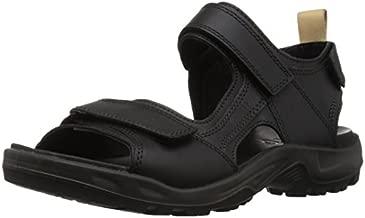 ECCO Men's Yucatan Outdoor Sandal Sport, Black/Powder, 7-7.5