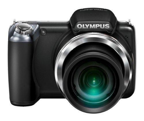 Olympus SP-810UZ Digitalkamera (14 Megapixel, 36-Fach Opt. Zoom, 7,6 cm (3 Zoll) Bildschirm, bildstabilisiert) schwarz