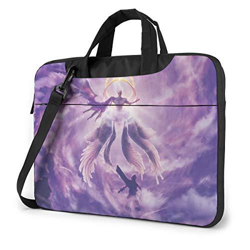 Final Fantasy VII One Winged Angel Laptop Shoulder Messenger Bag Case Sleeve for 14 Inch 15 Inch Laptop Case Laptop Briefcase 15.6 Inch