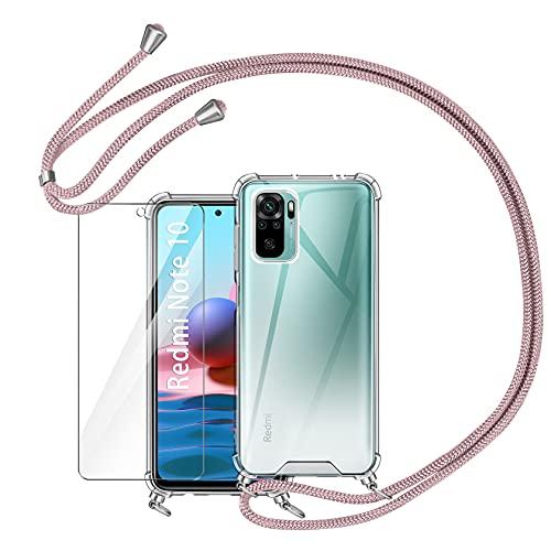 AROYI Funda con Cuerda Compatible con Xiaomi Redmi Note 10 4G / Note 10S 6.43