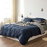 Ropa de cama Damier , 135 x 200 cm, amarillo, azul, reversible, juego de funda nórdica...