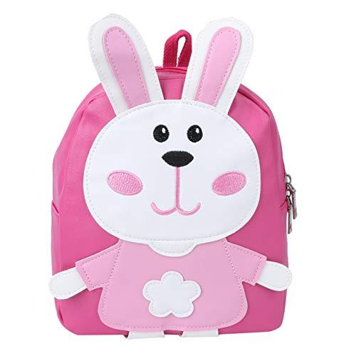 Borsa per la scuola del bambino, borsa per la scuola materna, zaino in cartone animato in PU, custodia per alimenti per bambini studio di viaggio(Pink)