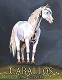 Caballos Libro Colorear: Nuevo Libro de Colorear Aliviar el Estrés 50 Diseños de Caballos de una cara Libro de colorear para adultos Regalo para amantes de los caballos Libro de colorear para adultos