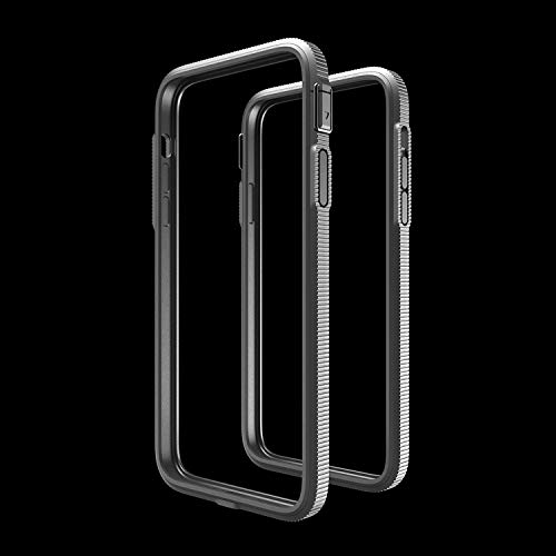 iPhone 12Pro Max SHOCKLAYER Case Inspired by Bulletproof Technology. Best in Class Aluminum Bumper Case! (Gunmetal Silver)