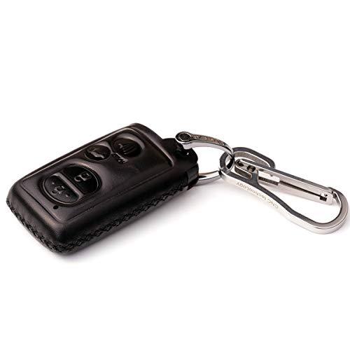 Cadtealir absortive baby Calfskin Genuine Leather key fob cover case holder for toyota highlander 4runner rav4 venza prius sequoia yaris avalon camry corolla tacoma alphard land cruiser chr 4 buttons