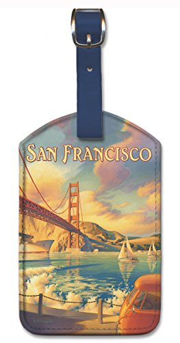 Pacifica Island Art Leatherette Luggage Baggage Tag - San Francisco by Erickson