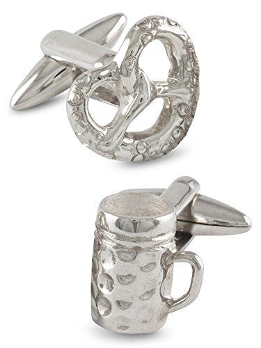 ZAUNICK Oktoberfest Wiesn Manschettenknöpfe Silber 925 handgefertigt