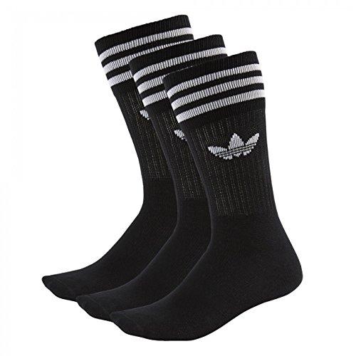 Adidas Socken Solid Crew 3er Pack, Größe:35-38;Farbe:Black / White (21490)