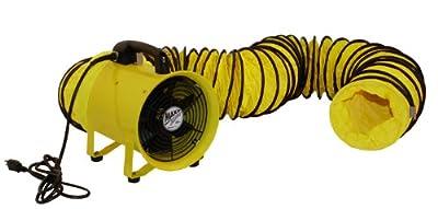 MaxxAir HVHF 12COMBO Heavy Duty Cylinder Fan with 20-foot Vinyl Hose