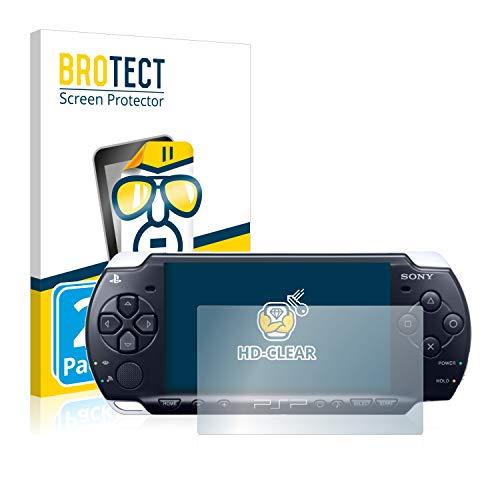 BROTECT Schutzfolie kompatibel mit Sony PSP 3004 (2 Stück) klare Displayschutz-Folie