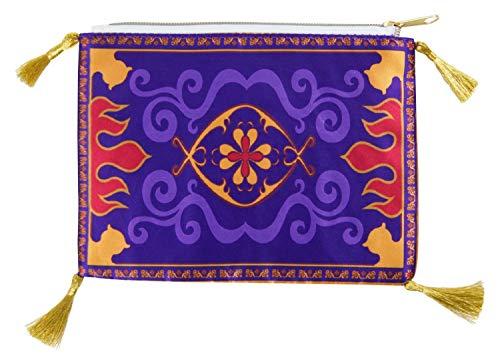 HOVUK® Trousse à crayons motif tapis volant avec pompons dorés et personnage imprimé Aladdin pour enfants à partir de 3 ans