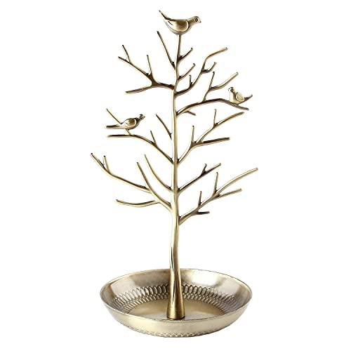 Discoball Gioielli Display Jewellery Stand di Gioielli Portagioie a Forma di Torre Organizzatore Decorativo Hanger per Orecchino Collana Anello Catena Orologio Key Tavolo