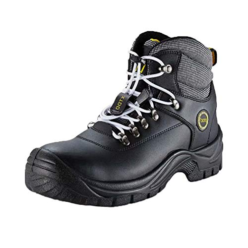 DDTX Botas De Seguridad Hombre Trabajo Zapatos de Seguridad Laboral Puntera De Acero Y Entresuela De Kevlar SBP Negro Talla 47