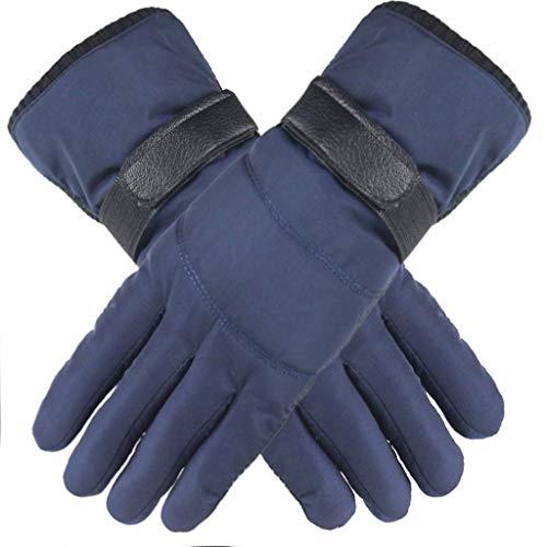 Touch Gloves Touchscreen Handschuhe Herren Damen Winter Daunen Baumwolle Fingerhandschuhe Anti-Rutsch Wasserdichte Winddicht Winterhandschuhe Casual Outdoor Sports Fäustlinge Blau
