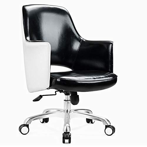 LSX - Stuhl Drehstuhl - Amerikanischer Freizeitstuhl Barstuhl Haus Kunstleder Computer Büro Freizeit Drehstuhl, 3 Farben zur Auswahl Büro (Color : Black)