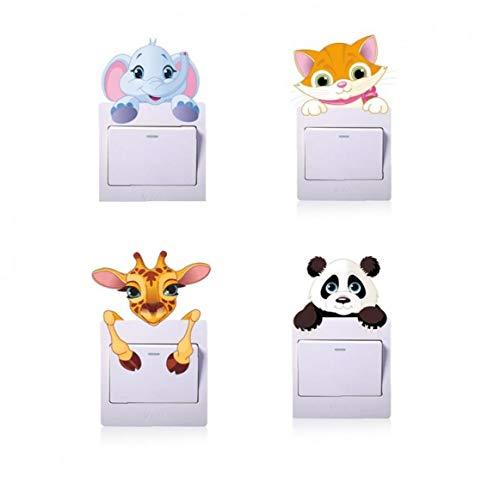 BYFRI 1pc Netter Panda Lichtschalter Aufkleber Remoable Wandaufkleber Für Kinder Baby-kinderzimmer-abziehbild