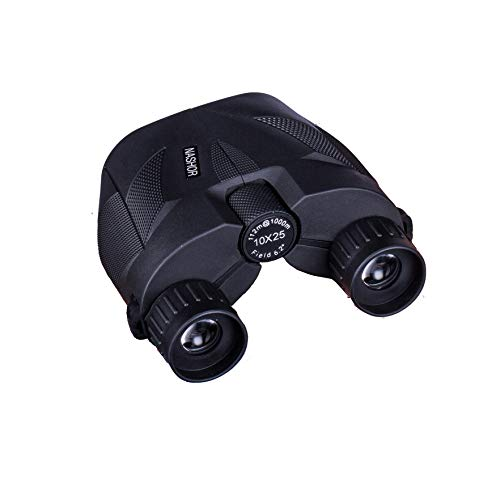 Nashor 10x25 Compact Binoculars for Adults and Kids, Small Binoculars for Concerts, Bird Watching, Hunting, Travel, and Sports Games
