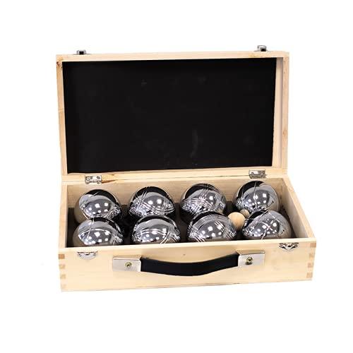 Premiergames Boulekugel-Set - 8 Boules im Holzkoffer Classic inkl. einem Boule-Kugel Magnetheber am Band