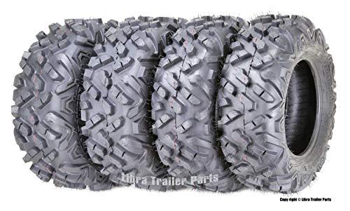 Full Set ATV UTV Tires 27x9-14 27x9x14 Front & 27x11-14 27x11x14 Rear 6PR Mud