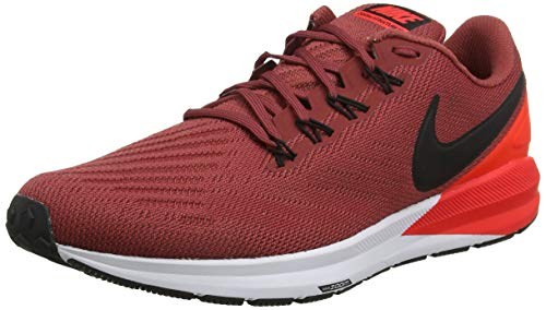Nike Herren Air Zoom Structure 22 Laufschuhe, Rot (Cedar/Black-Bright Crimson-White 600), 46 EU