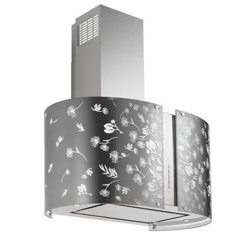 Falmec Dunstabzugshaube–Maxi Insel LED Moonlight in Glas mit Muster 85cm und Leistung 800m3/h