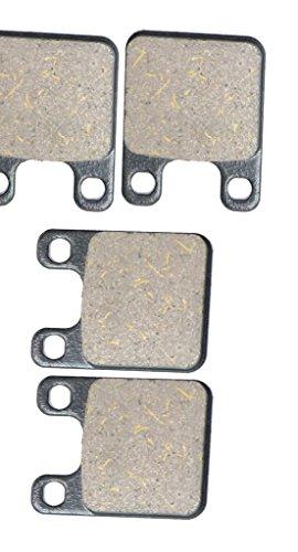 Semi-Metallic Bremsbacken Pad Set for ITALJET Street Bike 250 Dragster cc 250cc 07 08 2007 2008 4 Pads
