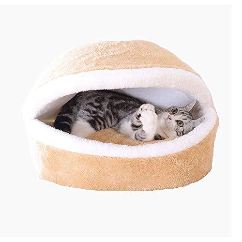FANQIECHAODAN Zipper Closure Pet Dog Bed | Round Burrow Pet