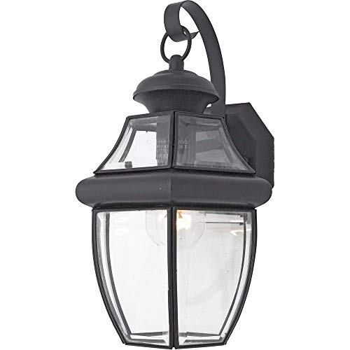 "Quoizel NY8316K Newbury Outdoor Wall Lantern Wall Mount Lighting, 1-Light, 150 Watt, Mystic Black (14""H x 8""W)"