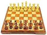 Cfbcc Damas Internacional de Ajedrez Internacional de Ajedrez Damas Plegable magnético Grano de Madera Tablero de ajedrez Juego
