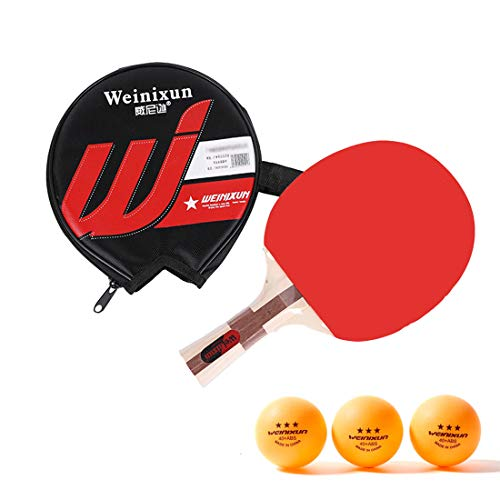 For Sale! HUATINGRHPP Ping Pong Table Tennis Set Ping Pong Paddle, 1 Paddle with Carry Bag,Games S...