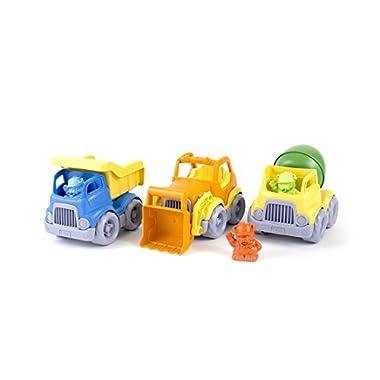 Green Toys Construction Vehicle Set, 3-Pack – Pretend Play, Motor Skills, Kids Toy Vehicles. No BPA, phthalates, PVC…