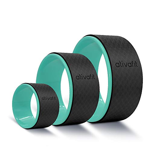 ATIVAFIT Sports Yoga Wheel Yoga Roller Rad for Back Pain and Improving Your Yoga Poses, Perfect for Stretching, Improving Flexibility and Backbends