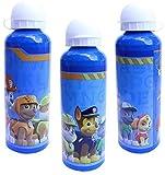 Bottiglia di acqua in alluminio per bambini e bambine, motivo: Paw Patrol Pup Team, borraccia termica a prova di perdite, senza BPA, per sollevare la scuola e lo sport, 500 ml, colore: blu