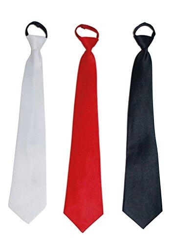 Karneval-Klamotten Krawatte schwarz Karneval Krawatte Show Silvester-Krawatte schwarz aus Satin Karneval
