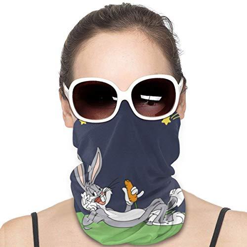Yellowbiubiubiu Bugs Bunny Anime Anime Variedad Turbante, protección contra el polvo para hombres y mujeres, funda para cuello, polainas para verano, ciclismo, senderismo, pesca, deportes al aire libre