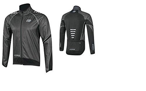 Force Windster, giacca funzionale da ciclismo, nero/grigio (XL)