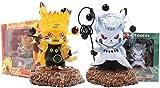 Gddg Anime Estatua Modelo Pokemon Pikachu Naruto Uchiha Obito Figuras DE ANIMES PVC Pikachu Cosplay VERSIÓN Linda DE Juguete ACCIÓN DE Juguete DOLVER DE Juguete 10 CM