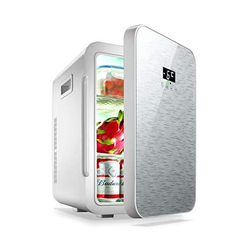 Mini-Kühlschränke Heimkühlung Mini-Auto-Heimkühlschrank für kosmetische Zwecke mit doppeltem Verwendungszweck FANJIANI (Color : Silver, Size : Digital Display)
