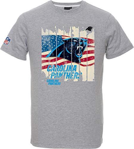 Majestic NFL Football T-Shirt Carolina Panthers Picilo USA Flagge (XL)