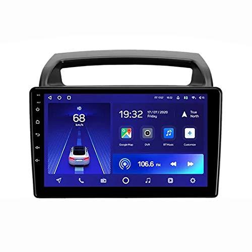MGYQ 2 DIN Coche Bluetooth GPS Multimedia Car Stereo con Cámara De Visión Trasera Soporte Control del Volante Receptor FM 1080P Video USB AUX In, para Kia Carnival 2006-2014,Quad Core,WiFi 1+32