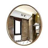 Miroir Mural, Miroir doré Rond en métal de Cadre de Salle de Bains de Prime de Miroir de Cadre de Cadre en métal Rond d'or for la Chambre à Coucher, Salon, entrée, vanité