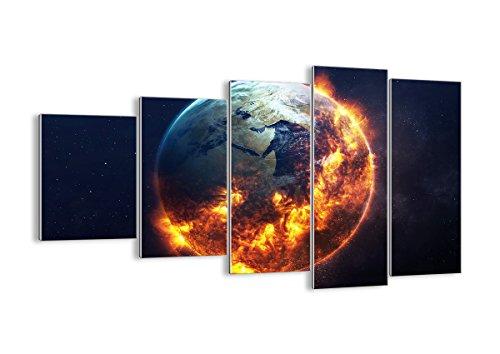 Quadro su Vetro - Cinque 5 Tele - Larghezza: 100cm, Altezza: 60cm - Numero dell'immagine 2875 - Pronto da Appendere - Elementi Multipli - Arte Digitale - Moderno - Quadro in Vetro - GEG100x60-2875