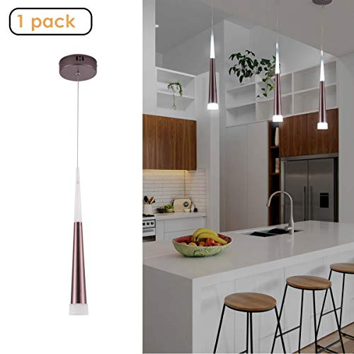 Harchee Modern LED Pendant Light with Acrylic Shade,...