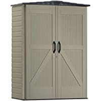 Rubbermaid Resin Weather Resistant Outdoor Garden Storage Shed, 5x2 Feet