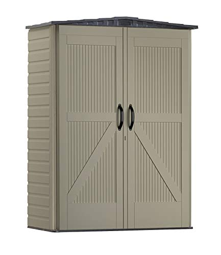 Rubbermaid Roughneck Small Vertical Resin Weather Resistant Outdoor Garden Storage Shed, 5x2 Feet