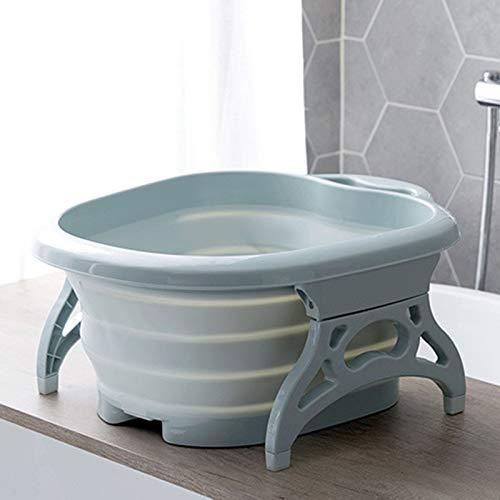 easybuy Fußeinweichung Badewanne Waschbecken Werkzeuge, Schaum-Massageeimer, Erhöhung Kunststoff Gummi Tragbarer Fuß Bad Barrel für Haushalt Zubehör (Pink), blau, 40x50x22cm