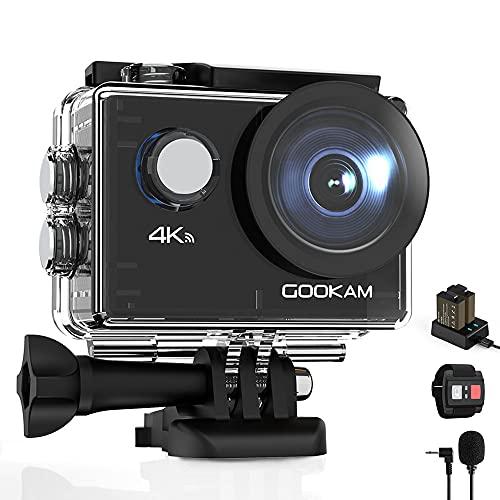 GOOKAM 4K Action Cam 20MP WiFi Telecomando Fotocamera Subacquea Impermeabile 40M...