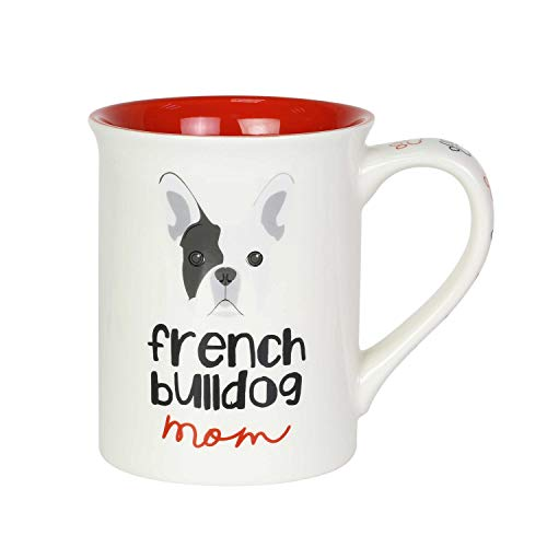 Enesco Our Name is Mud French Bulldog Mom Coffee Mug, 16 Ounce, Multicolor,6003694
