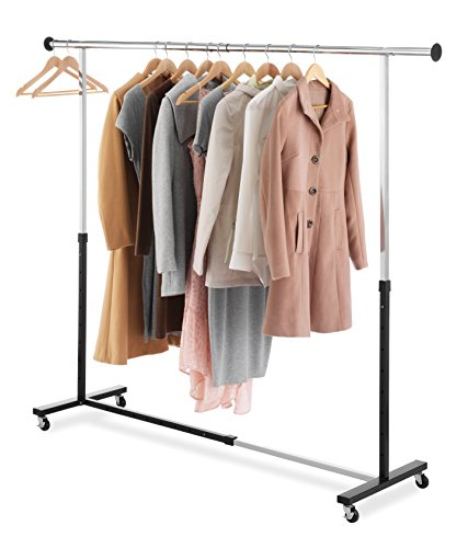 Whitmor Adjustable Rolling Garment Rack