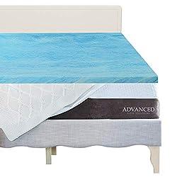 """commercial Memory Foam Gel Mattress Topper, 2 """"Thick 2″ Plush Memory Memory, Premium Gel Impregnated Memory Foam … gel mattress pads"""